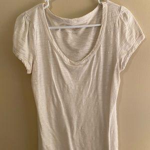 ***3 FOR $10 PROMO*** Cream Scoop Neck Tshirt
